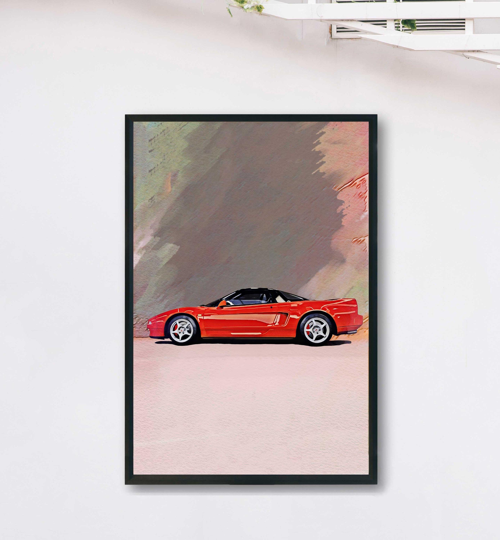 Honda NSX Car Print Acura NSX Car Poster JDM Car Wall Art