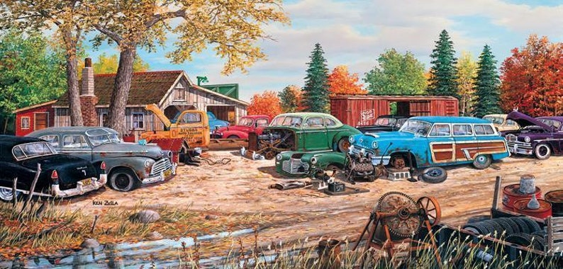 Junkyard Relics 1000pc Jigsaw Puzzle by