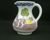 Vintage 1973 Delft Williamsburg Restoration Holland Hand Painted Pitcher Creamer Art Collectible Rare Pitchers