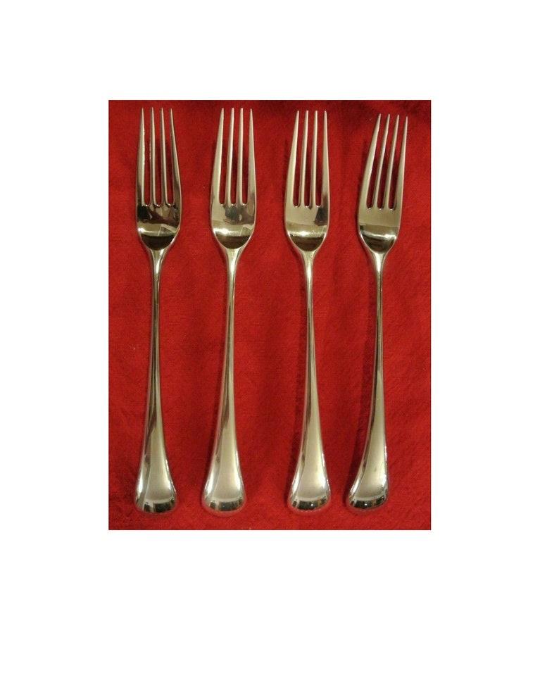 Set of 4 Dansk Torun Stainless 8\u201d Dinner Forks Japan  Quality Metal Forks Stainless Steal Forks Dinnerware Flatware Dinner Utensils