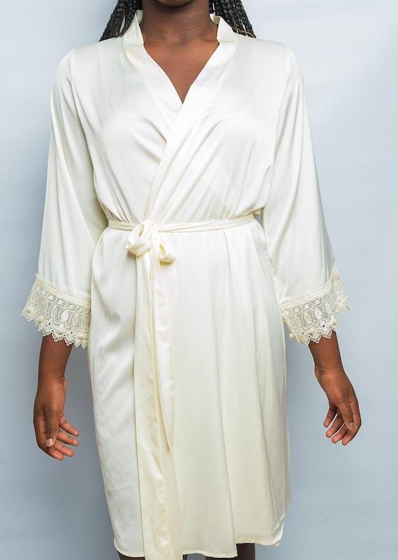 Lola 100 Valentino Silk Robesilk Bridal Robe Nude Silk Etsy