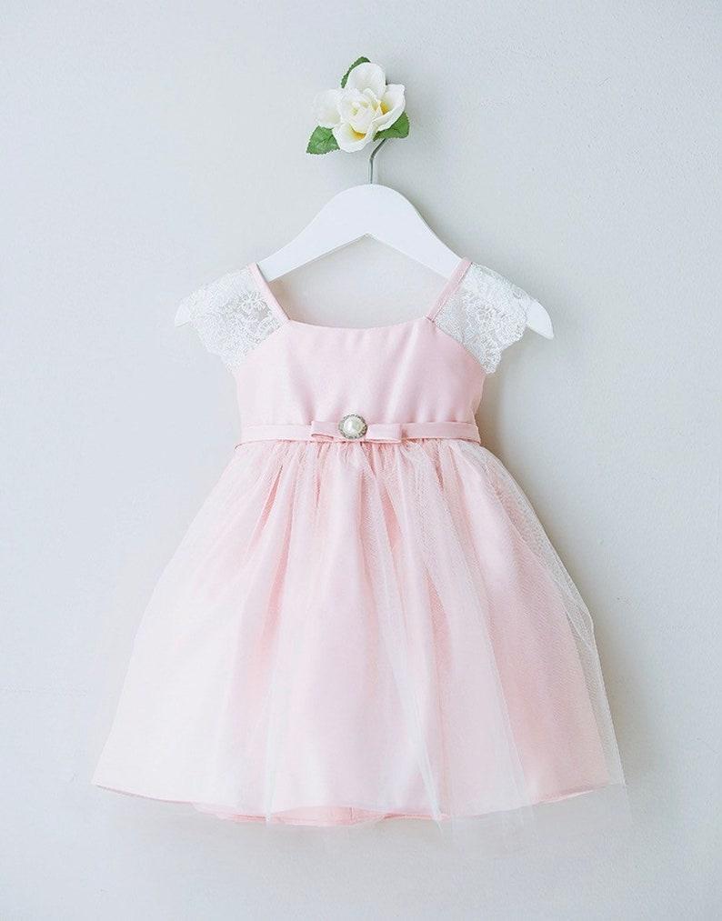 87258afe8 Pink Lace Baby Girl Dress | Saddha