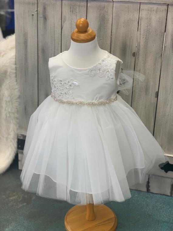 Taufe Baby Kleid Baby Mädchen Kleid Taufe Kleid Weiß Babymädchen Kleid Ivory Baby Kleinkind Taufe Kleid