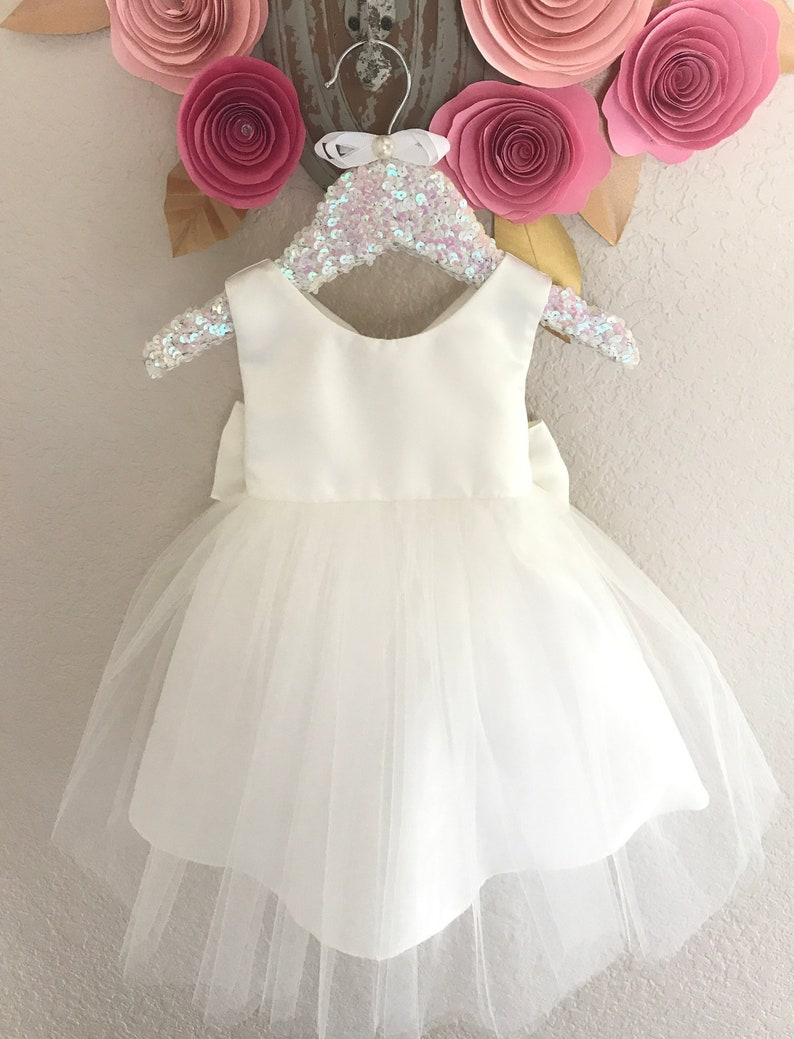 e7989a6d8142e Christening Baby Girl Dress Baptism Dress White Baby Girl Gown Communion  dress Naming Ceremony Dress Ivory baby dress girls Birthday dress