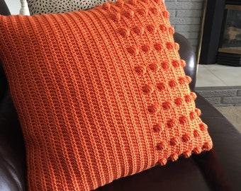 "CROCHET PATTERN - The Burst of Sunshine Pillow Cover - PDF Pattern - Crochet Removable Pillow Cover - 18"" x 18"" Pillow"
