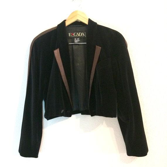 Vintage velvet jacket / 80s velvet jacket / ESCADA