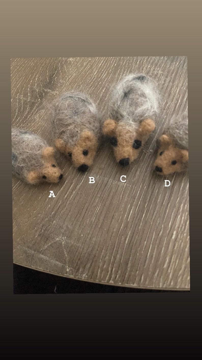 Felted Hedgehogs