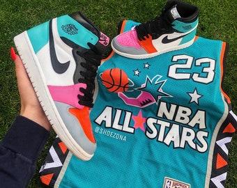 173086a5075 Michael Jordan Custom 96' Air Jordan 1s