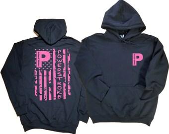 3f2f660b Powerstroke Hoodie, Ford Powerstoke Pink Flag Sweatshir,t Gift for Diesel  Truck Lover, pstroke tattered flag