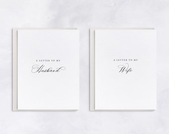 A Letter To My Husband/Wife, Wedding Day Of Cards, Classic Style