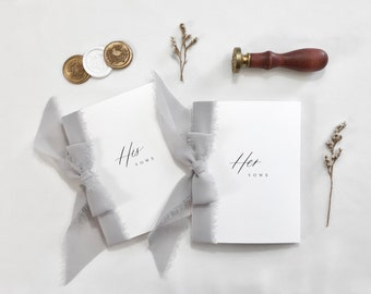 His and Her Vows, Modern Vow Books, Wedding Keepsake