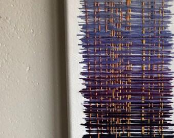 Thread Painting in Purple