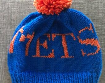 8b4929c1b3e Hand Knit Mets Hat