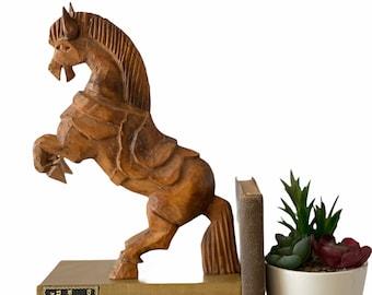 17 inches tall Country Decor TALL ceramic glazed rearing stallion horse figurine Vintage California Pottery MCM Decor Southwest Decor