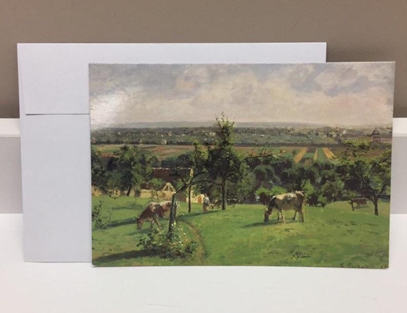 Impressionism Card Camille Pissarro The Hillside of Vesinet