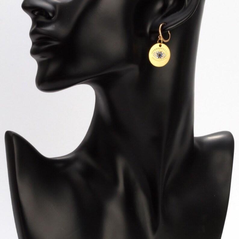 Evils eye cubic zircon earrings