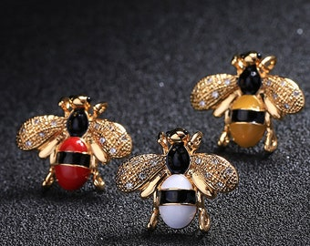 c28c2c32281 MINI Brooch Bumble bee brooch bow brooch  DIY supplies Men s Brooch    Women s Brooch SJ