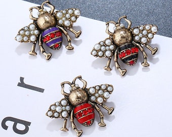 6237da0bd89 White pearl Gucci Brooch Bumble bee brooch brooch pin bow brooch  DIY  supplies Men s Brooch   Women s Brooch Kq