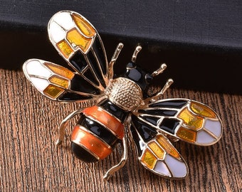 11cdbba77ee Animal Brooch Bumble red bee brooch bow brooch  DIY supplies Men s Brooch    Women s Brooch YH