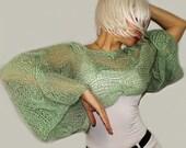 Mohair Sweater,Green Sweater,Designer Sweater,Mohair Sweater Women,Designer Sweaters Women,Handknit Sweater,Wool Sweater,ooak powder sweater
