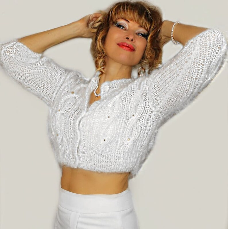 White Bridal Jacket,knit bolero mohair,wedding sweater,bridal cover up,bridal sweater,knitted wool bolero,white wedding bolero,white shrugs