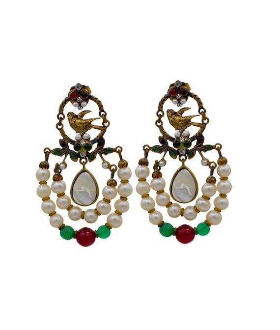 REAL PEARL EARRINGS, Vintage jewelry, unusual earr