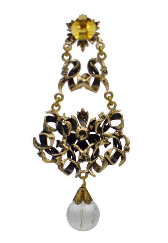 BEAD CHANDELIER Earrings, Vintage jewelry, Big ch… - image 5
