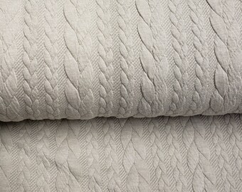 Knit braid jersey jaquard boho fabric sand