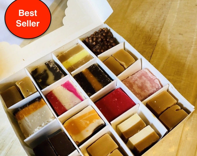 Fudge Gift, Fudge Box - Fudge Tray - Gourmet Fudge - Fudge Flavours. Thank You - Birthday gift - New Home - House warming - Fruity fudge.