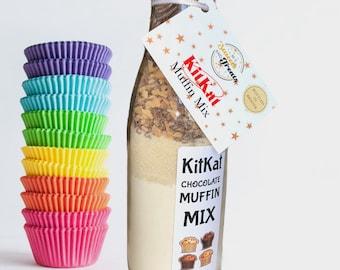 Chocolate Muffin Mix. KitKat Chocolate Gift. Muffin Baking Bottle. Cupcake Kit. Baking Gift Set. Children's Baking. Kids Activities.