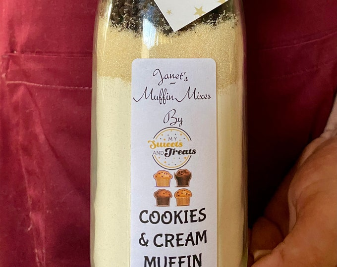 Cookies & Cream Muffin mix, Make our own. Kids Crafts. Stocking Fillers, Baking Gift, Cake Mix. Muffin Mix. Oreo Cookies, White Chocolate