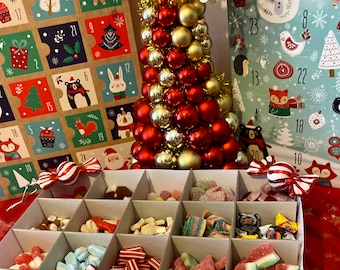 24 day Christmas Advent Calendar, Sweets and toys advent calendars. Children's candy advent calendar, Filled with Pick N Mix