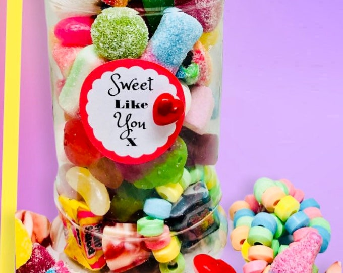 Sweetie Jar, sweet occasion gift - Gifts for him, Gifts for her. Happy birthday sweets, Well done, You passed, Congratulations, With Love
