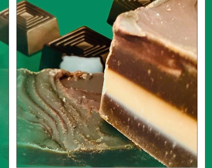 Christmas After Eight Fudge, Fudge Flavours, Mince Pie, Marzipan. Baileys, Christmas Log, Gingerbread Latte. Spiced Fudge, Gold Gift Tins