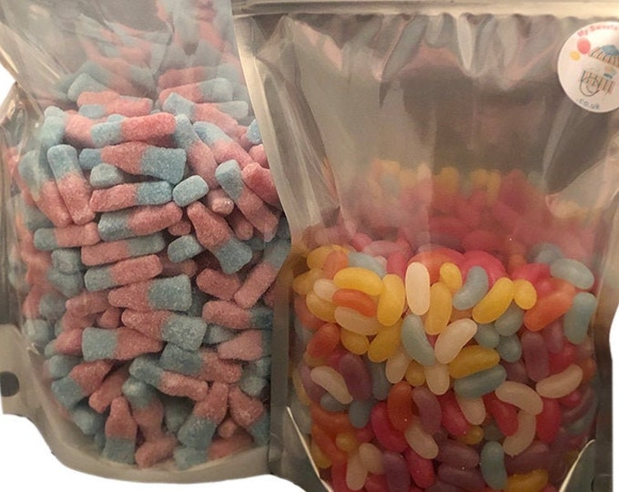 Vegan Sweets Mix, Pick N Mix Bag, Vegetarian Friendly, Fizzy Bubblegum, Cola Flavour, Cherry Bottles. Sweet cart sweets, Bulk buy Sweets.
