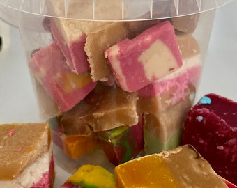 Miss-shaped, Handmade Fudge, Ugly but good, Coconut Ice & Nougat. Fudge off-cuts. Broken Fudge. Personal gift. Variety of flavours