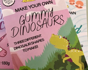 Dinosaur birthday gift, DIY jelly sweet making set. Make your own jellies, Kids activity pack, Children's science kit. Arts & Craft