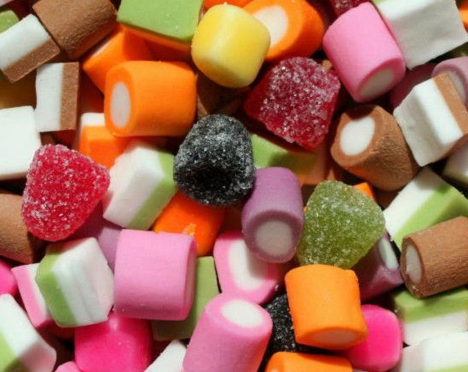 Gluten-Free Dolly Mixture Gift. Retro, classic sweets. Bulk buy, Sweet Pouch. Sweet cart sweets. Wedding, Birthday parties, celebrations.