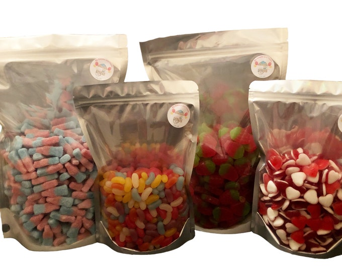 Black & Raspberry Berries, Fruity Flavoured Jellies, Pick N Mix. Bulk Buy, party, Wedding, Birthday sweets. Share Bags.