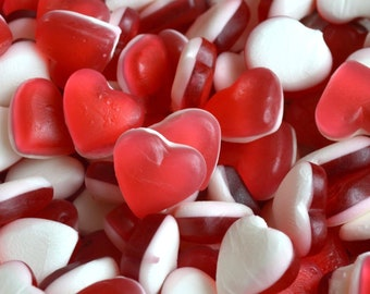 Valentines day sweets, Haribo heart throbs. Wedding party sweets. Bulk buy / Job lot. Sweets for candy cart. Valentines candy.