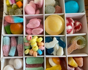 Gluten free  Sweet Box Gift, Pick N Mix- Vegetarian. Variety / Pick N Mix - Thank you - Get well soon - House warming - well done - Congrats