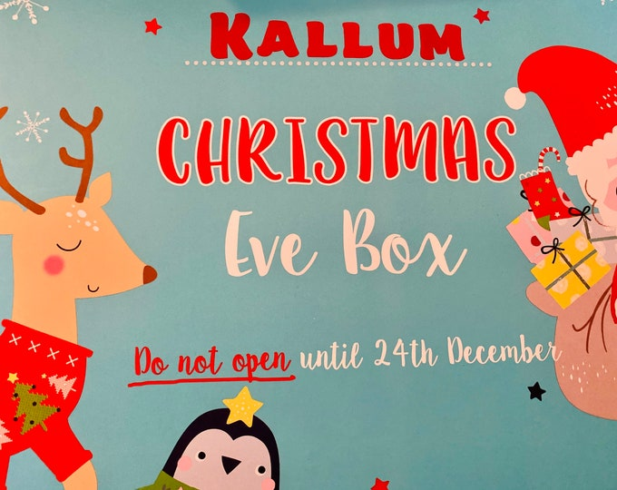 Personalised Christmas Eve Box, Children's activity Box, Early Christmas Gift, Family Hamper, family Gift Box, Gifts for Kids.