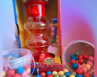 Bubblegum machine, Gumball bank, bubblegum refills and toy machine. Insert coin for bubblegum. Christmas gift for children.