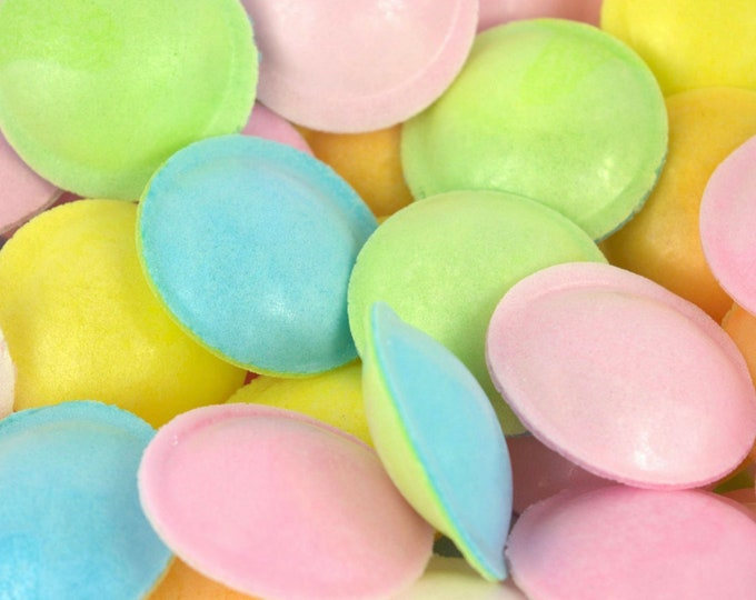 Gluten Free Flying saucers. Vegan, vegetarian friendly. 200g. Pick N Mix Classic, Sweets Gifts. Multi coloured sweets. Sherbet Sweets.