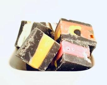 Liquorice All Sorts Fudge, Liquorice Gifts. Gift for parents, Mothers day. Father's Day. Grandparents Gift, Gift Tins. Liquorice assortment