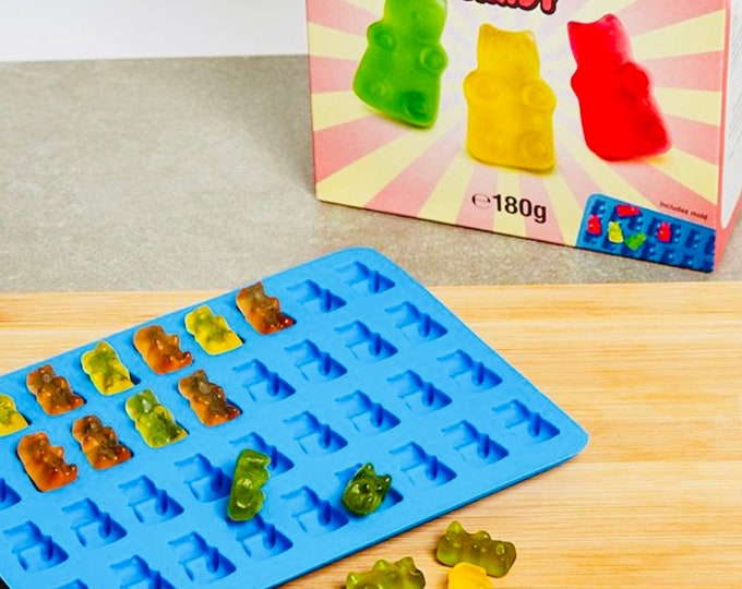 DIY jelly sweet gummy candy making set. Gummy bears, Make your own jellies, Kids activity pack, Children's science kit. Arts & Craft, Baking
