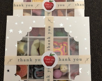 Teacher Thank you sweet gift box, teaching assistant gift. Chocolate, End of year, End of term, Gift from Children. Parents gift to teacher