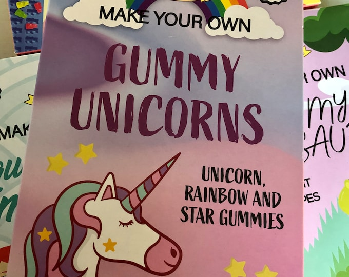 Unicorns jelly sweets, gummy candy making set. DIY, Make your own jellies, Kids activity pack, Children's science kit. Arts & Craft