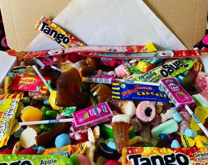 Large Pick N Mix Retro Sweet Box, Fizzy sweets, Classic Mix Up, Medium Size Sweet Box, Candy Hamper, Birthday Treat Gift Box. Chocolate.