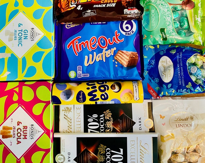 Sweets and Chocolate Box. Clearance Sale. Confectionery Gift Box. Sweet Gift Box. Lindt Chocolates. Thank you, well done chocolates.